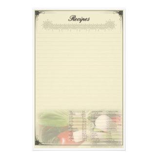 レシピのカスタムの文房具 便箋