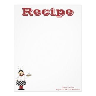 レシピのペーパー台所シェフのレシピ レターヘッド