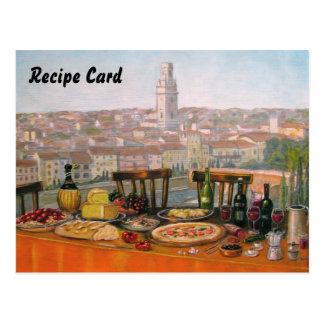 レシピはイタリアンなファインアートを梳きます ポストカード