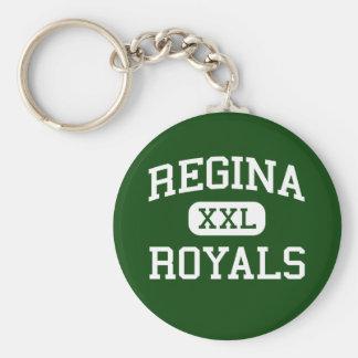 レジーナ- Royals -高等学校-南Euclidオハイオ州 ベーシック丸型缶キーホルダー