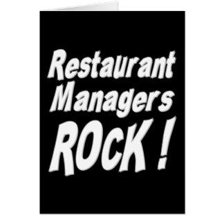 レストランのマネージャーの石! 挨拶状 カード