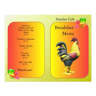 レストランの供給、Sunnysideの朝食のオンドリ 21.6cm X 27.9cm チラシ