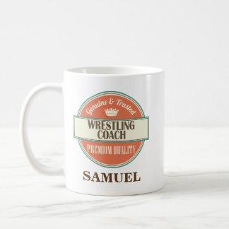 レスリングのコーチの名前入りなオフィスのマグのギフト コーヒーマグカップ
