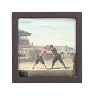 レスリングの試合、コンスタンチノープル(w/c紙で) ギフトボックス