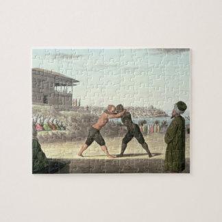 レスリングの試合、コンスタンチノープル(w/c紙で) ジグソーパズル