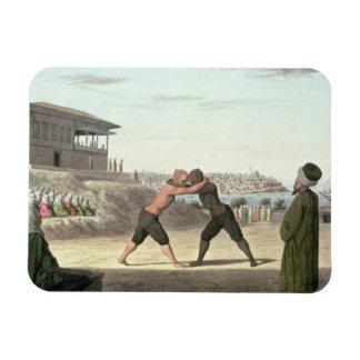 レスリングの試合、コンスタンチノープル(w/c紙で) マグネット