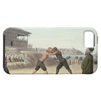 レスリングの試合、コンスタンチノープル(w/c紙で) iPhone SE/5/5s ケース