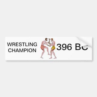 レスリングのchampin 396紀元前に バンパーステッカー