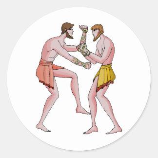 レスリングのchampin 396紀元前に ラウンドシール