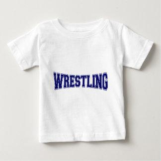 レスリング大学スタイル ベビーTシャツ
