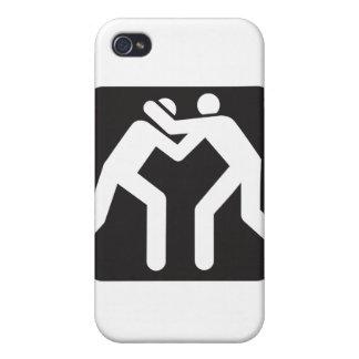 レスリング選手アイコン iPhone 4/4S COVER