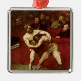 レスリング選手1875年 メタルオーナメント