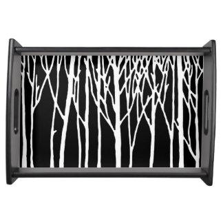 レスリーのコショウによる樺の木の森林 トレー