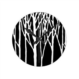レスリーのコショウによる樺の木の森林 ラウンド壁時計