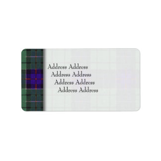 レスリーの一族の格子縞のスコットランド人のタータンチェック ラベル