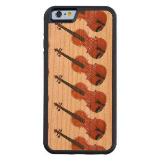 レスリーHarlow著バイオリン/ビオラの箱のデザイン CarvedチェリーiPhone 6バンパーケース