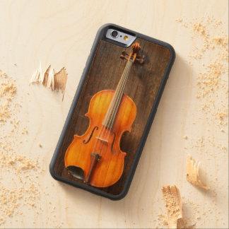 レスリーHarlow著ビオラ/バイオリンの電話箱のデザイン CarvedチェリーiPhone 6バンパーケース