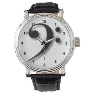 レスリーHarlow著ヘ音記号の腕時計 腕時計