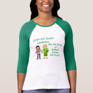 レズビアンなんてことだ Tシャツ