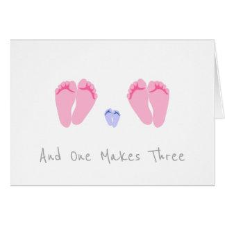 レズビアンのカップルの新生児の男の子-および1つは3つを作ります カード