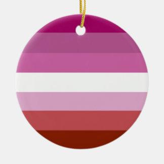 レズビアンのプライドの旗 セラミックオーナメント