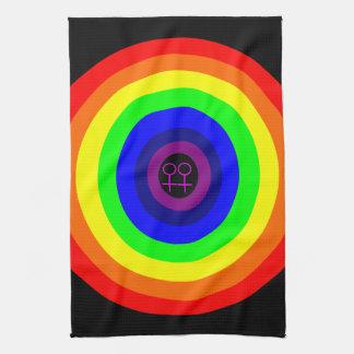 レズビアンの円形の虹の台所タオル キッチンタオル