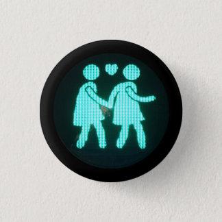 レズビアンの歩行者の信号ボタン 3.2CM 丸型バッジ