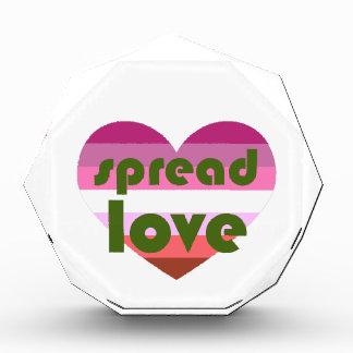 レズビアン愛を広げて下さい 表彰盾