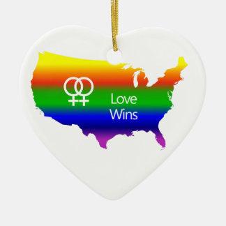 レズビアン愛勝利 セラミックオーナメント