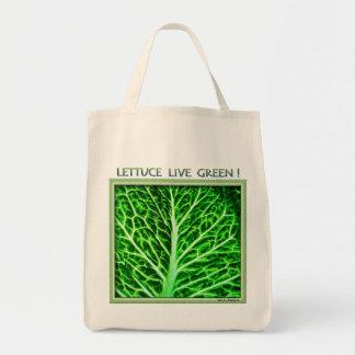 レタスの生きている緑の買い物袋 トートバッグ
