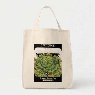 レタスの種の包みのラベル トートバッグ
