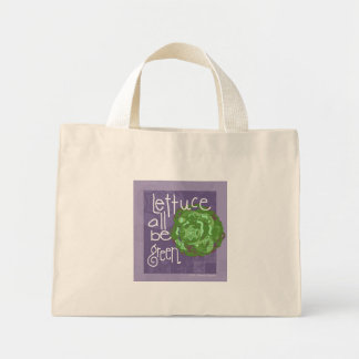 レタスはすべて緑です ミニトートバッグ
