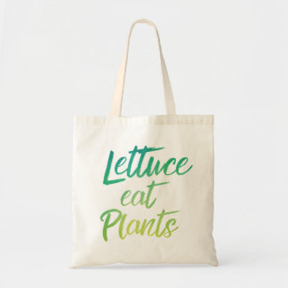 レタスは植物のベジタリアンおよびビーガンのユーモアを食べます トートバッグ
