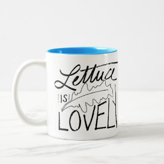レタスは美しい11のozのツートーンマグです ツートーンマグカップ