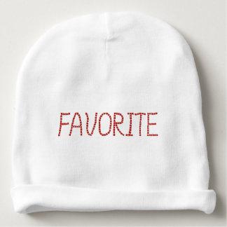 レタリングの「favoriteが付いている赤ん坊の綿の帽子 ベビービーニー