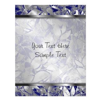 レターヘッドグランジな芸術の銀の花柄の抽象芸術 レターヘッド