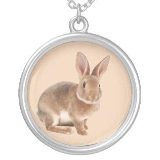 レックスのウサギ シルバープレートネックレス