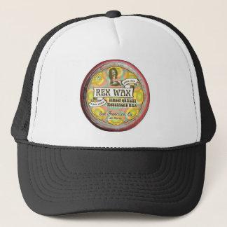 レックスのワックス: ハンドメイドの口ひげのワックスの黒のトラック運転手の帽子 キャップ