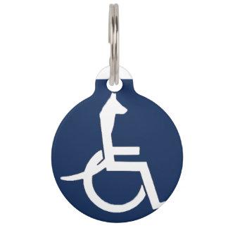 レックスの車椅子のペットタグ ペット ネームタグ