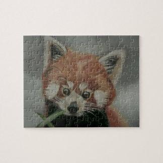 レッサーパンダのパステル調の絵画のジグソーパズル ジグソーパズル