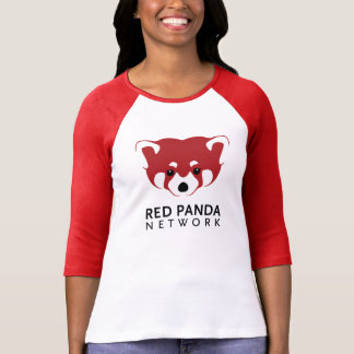 レッサーパンダのロゴ3/4の袖 Tシャツ