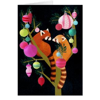 レッサーパンダの休日カード カード