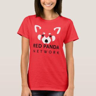 レッサーパンダの女性のティーの赤 Tシャツ