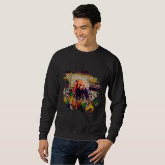 レッサーパンダの抽象芸術のヴィンテージのポップアートの構成 スウェットシャツ
