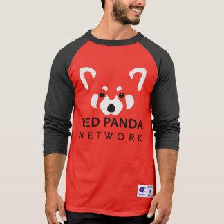 レッサーパンダの赤い野球T Tシャツ