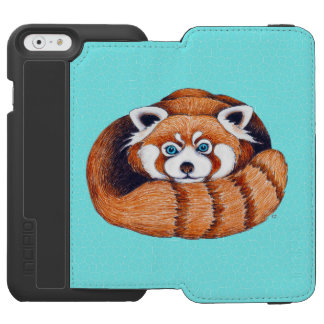 レッサーパンダはターコイズに関係します INCIPIO WATSON™ iPhone 5 財布型ケース