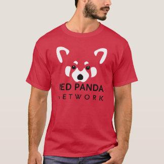 レッサーパンダネットワークのティーの赤 Tシャツ
