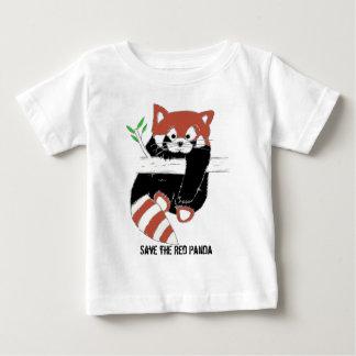 レッサーパンダ別名FireFoxを救って下さい ベビーTシャツ