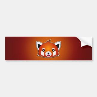 レッサーパンダ(オレンジ背景) バンパーステッカー