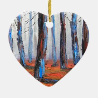 レッドウッドの元の絵画、カリフォルニア木 セラミックオーナメント